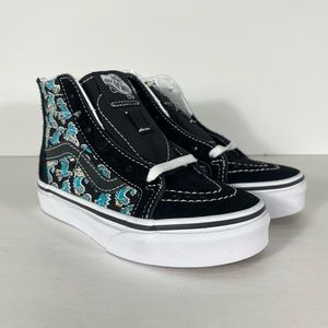 Vans Sk8-Hi Zip Vansosaur Black White Sneakers